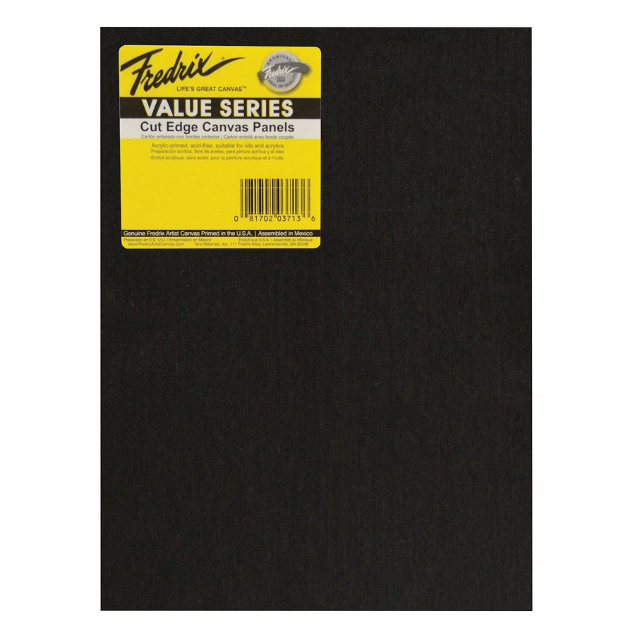 Fredrix Value Series Rectangular Black Cut Edge Panels