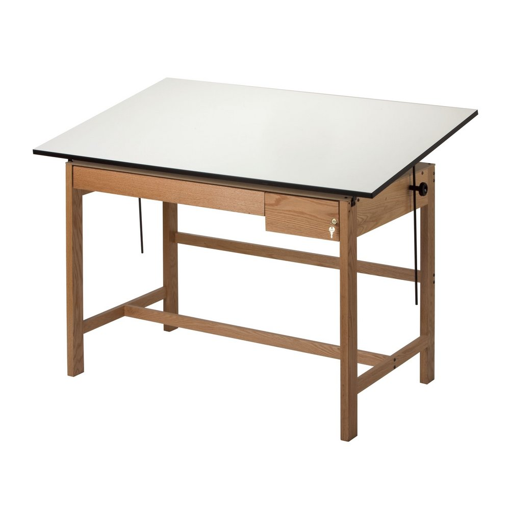 Alvin Titan II Oak Drafting Tables