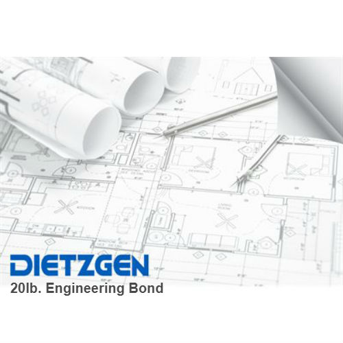 dietzgen 20lb engineering bond drafting equipment warehouse