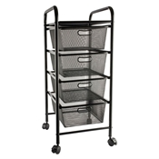 Mesh Drawer Storage Cart