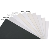 "20"" x 30"" Textured Surface Mat and Drawing Boards - Warm Grey - 25/Box"