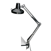 Swing-Arm Combination Lamp with CFL Bulb Drafting Furniture, Drafting Lamps