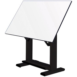 "ET60-4 : Alvin 37.5"" x 60"" Elite Drafting Table, Base Color: White"