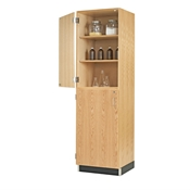 Oak Split-Door Tall Storage Cabinet