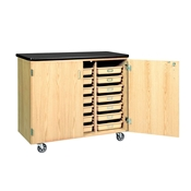Mobile Tote Tray Supply Storage