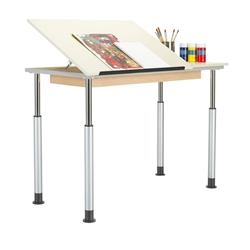 Adaptable Split-Top Drawing Table