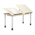 Adaptable Dual-Station Student Drawing Table
