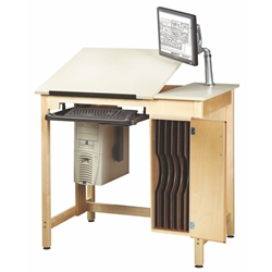 "30"" x 42"" Student Computer Drafting Table"