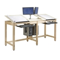 Two-Station CPU Student Drafting Table
