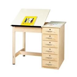 "24"" x 36"" Student Split-Top Drafting Table"