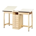 Two-Station Student Drafting/Drawing Table