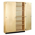 "60""W Tall Storage Cabinet with Doors"