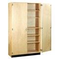 "48""W Tall Storage Cabinet with Doors"
