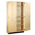 "30""W Tall Storage Cabinet with Doors"
