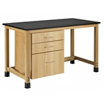 Add-A-Cabinet Student Table (2 Drawers/1 File Drawer)