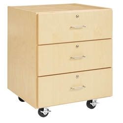 "30""H M-Series 3-Drawer Cabinet"