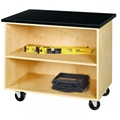 Open Mobile Storage Cabinet