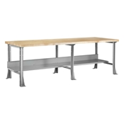 "96"" x 24"" Industrial Steel Workbench with Maple Top"