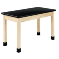 "48"" x 24"" Plain Apron Maple Table"