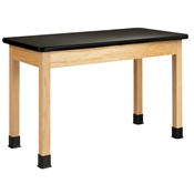 "48"" x 30"" Standing-Height Oak Student Table"
