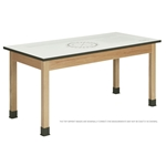 "54""W Oak Imprint Table"