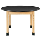 "48"" Round Oak Student Table"