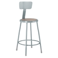 "24"" Metal Stool with Back"
