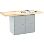 Two-Station Steel Workbench