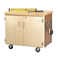 Mobile Storage Cabinet with Pegboard
