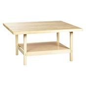 Four-Station Wood Workbench