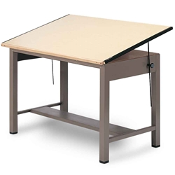 "37.5"" x 48"" Ranger 4-Post Drafting Table Drafting Furniture, Drafting Tables and Drawing Boards, Metal Drafting Tables, Mayline Ranger Drafting Table, drawing table"
