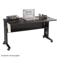 "54""W Reversible Top Mobile Desk Computer desk; Computer table; Office desk; Laptop table; Desk; Office furniture; Workstation; Flip top desk"