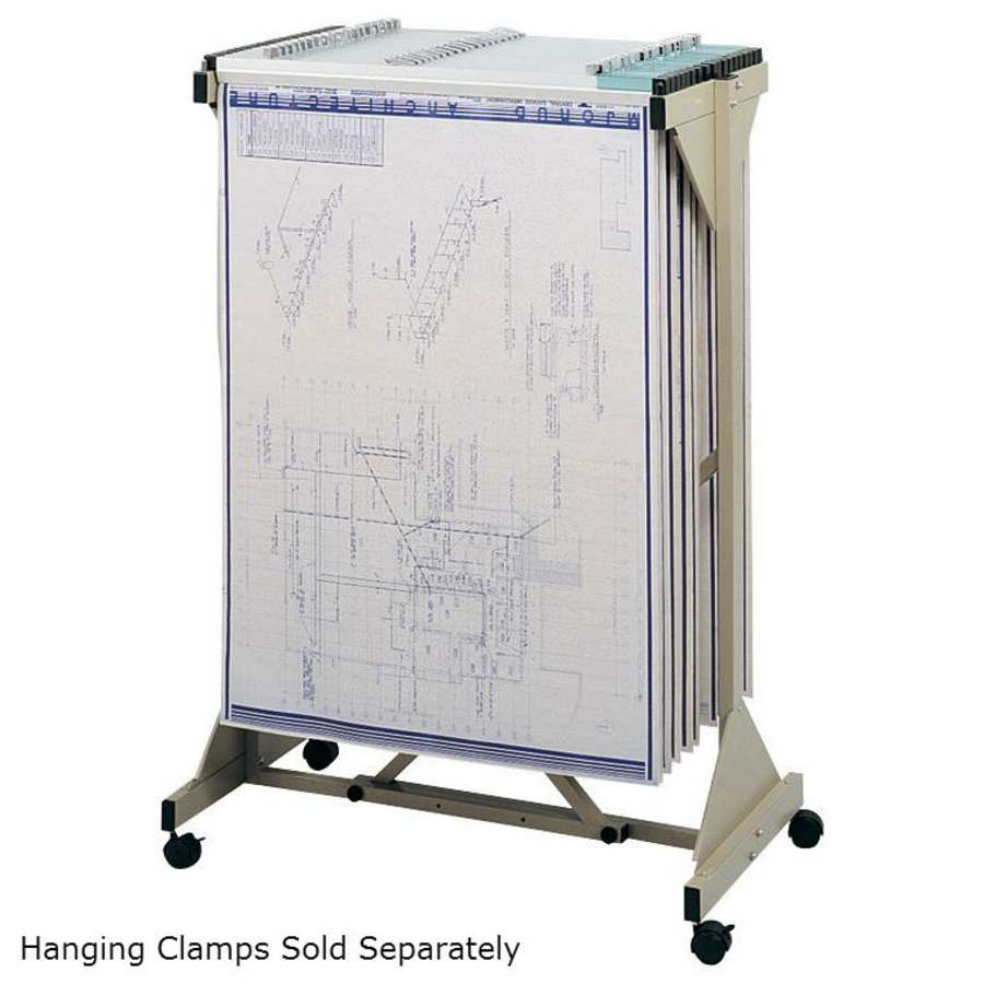 Blueprint hanging clamps and racks drafting equipment warehouse mobile plan center 5060 mobile blueprint storage mobile engineer drawing storage blueprint storage malvernweather Images