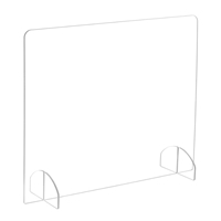 "30""W Freestanding All-Acrylic Sneeze Guard"