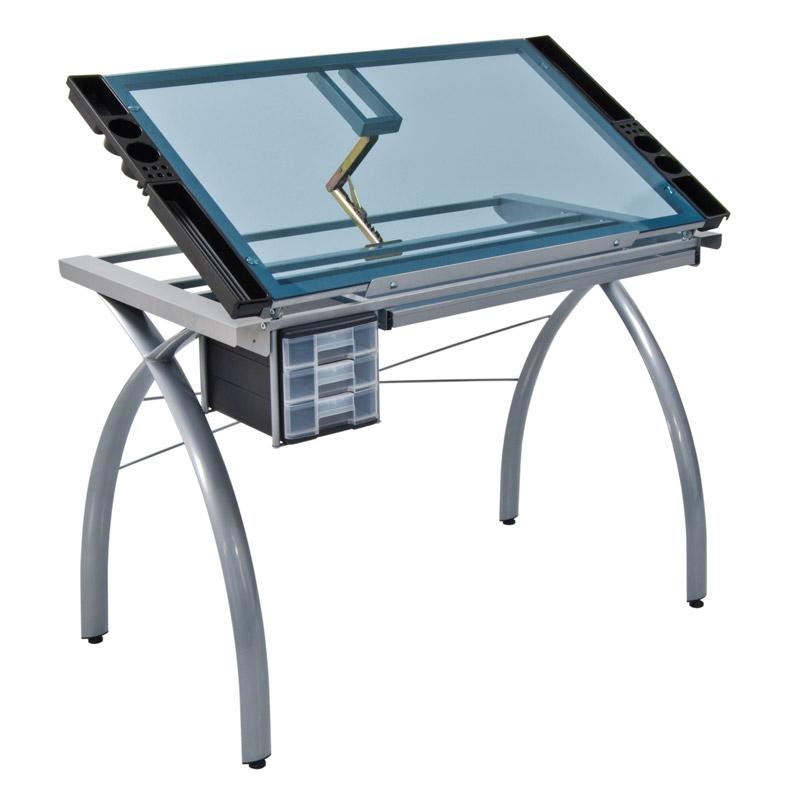 Studio Designs Futura Glass Top Craft Table