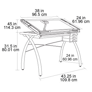 ... Futura Glass Top Craft Table   10050