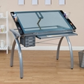 Futura Glass Top Craft Table