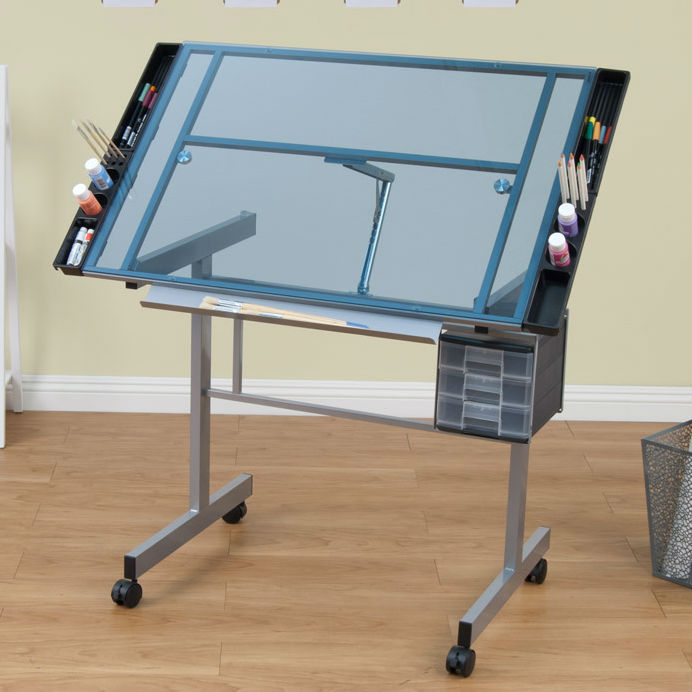 Vision Glass Top Craft Table Drafting Furniture, Drafting Tables And Drawing  Boards, Craft And