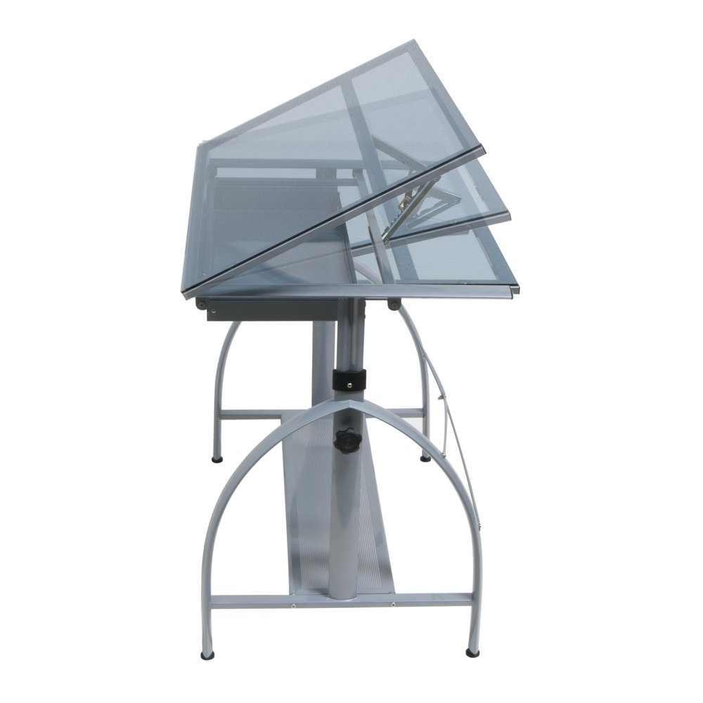 Studio designs futura craft station with glass top -  Avanta Drafting Table 10060