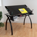 Futura Drafting and Craft Table in Black