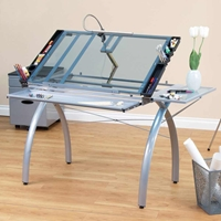 Futura Craft Station with Folding Shelf Drafting Furniture, Drafting Tables and Drawing Boards, Craft and Hobby Tables, drawing table