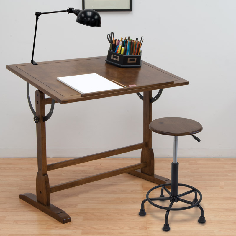 Studio designs 42 vintage drafting table color rustic oak 13305 42 vintage drafting table 13305 malvernweather Gallery