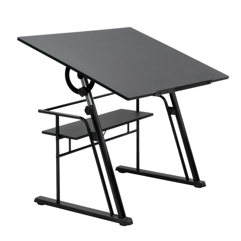 Studio Design Drafting Table studio designs futura advanced drafting table with side shelf set with chair drafting drawing tables at hayneedle Zenith Drafting Set Color Black 32640