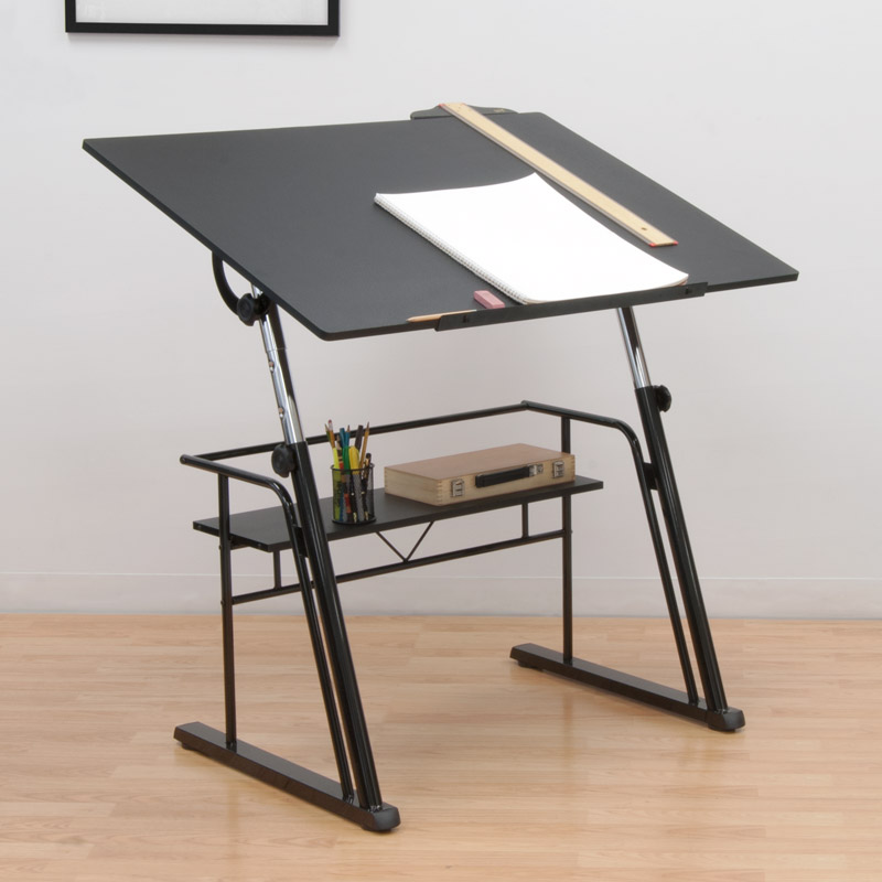 Studio designs zenith drafting table color black 13340 for Mesa de dibujo ikea