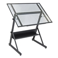 Solano Glass Top Adjustable Table