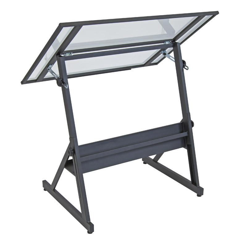 Studio Designs Solano Glass Top Adjustable Table 13346