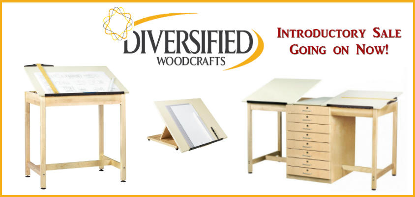 Diversified Woodcrafts -- Wooden Student Drafting Tables