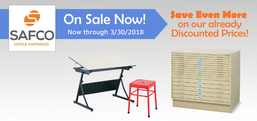 Safco Flat Files & Drafting Table Sale
