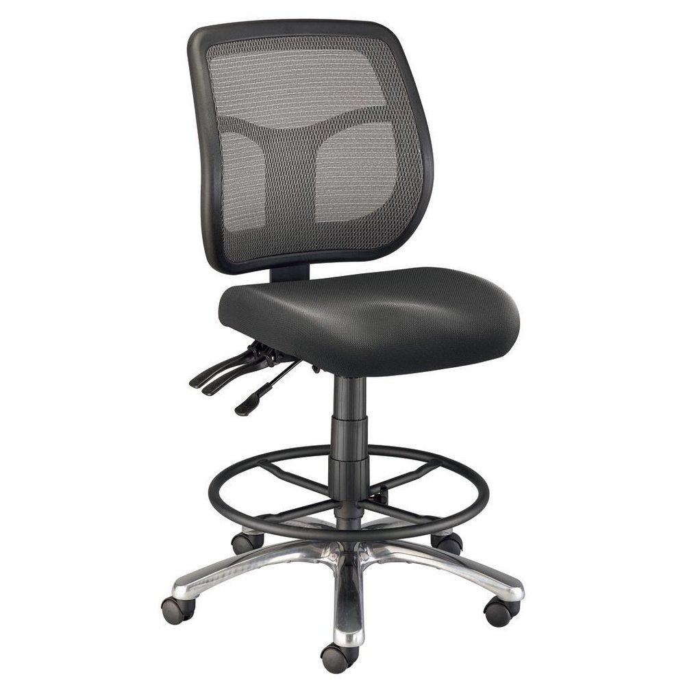 CH728 45DH : Alvin Argentum Mesh Drafting Chair