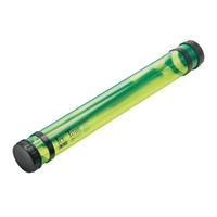 "37"" Transparent Green Ice Tube Drafting Supplies, Blueprint Tubes and Carriers, Blueprint Plan and Document Tubes"